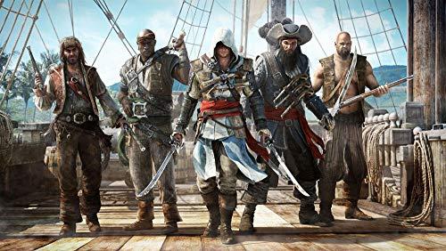ZGNH Malen nach Zahlen 16 * 20 Zoll DIY Leinwand Gemälde für Erwachsene und Kinder mit 3 Bürsten und Acrylfarben (Nur Leinwand) - Assassin Creed Game Poster