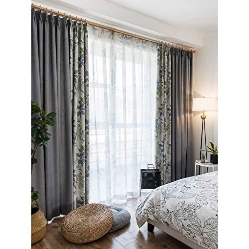 ZLYH Dormitorio de la Cortina de la Cortina 2018 Acabado Simple Moderno Estilo nórdico Americano Tela China de la Cortina (Tamaño : 3 * 2.7m)