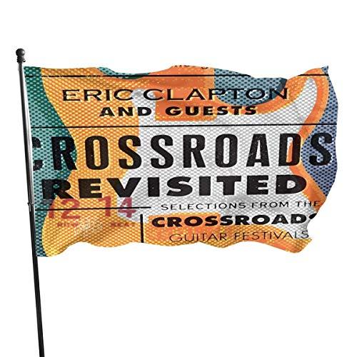 YRTGF Eric Clapton Crossroads Revisited Gartenflagge, Gartenschild, Party, Dekoration Flagge, 3X5 ft Flaggen