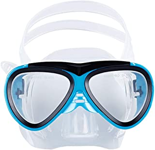 Greenery-GRE Junior Kids Youth Diving Masks Silicone Waterproof No Leaking Anti-Fog Wide Clear Vision Swim Goggles for Girls Boys Shatterproof Swimming Glasses Safe Diving Snorkeling Mask Speedo
