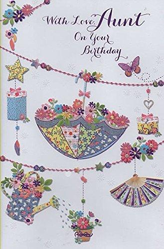 met liefde, tante op je verjaardag - verjaardagskaart