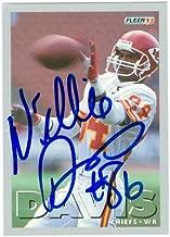 Autograph Warehouse 20183 Willie Davis Autographed Football Card Kansas City Chiefs 1993 Fleer No. 84