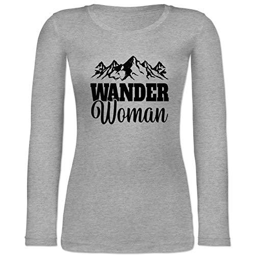 Sonstige Sportarten - Wander Woman - schwarz - M - Grau meliert - Wander Woman Langarm - BCTW071 - Langarmshirt Damen