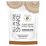 Reset360 Plant Based Pea Protein All in One Meal Replacement Shake | Gluten Free, Soy Free, Dairy Free, Low Carb, Low Sugar Shakes for Weight Loss, 20 Servings, 33.3oz, Chocolate, 1 Pack