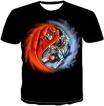 Blwz heren t-shirt met doodshoofd-motief, 3D-print...