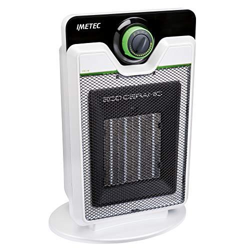 Imetec Eco Ceramic CFH1-100 Termoventilatore con Tecnologia Ceramica a Basso Consumo Energetico, Silenzioso, 3 Livelli di Temperatura, Termostato Ambiente