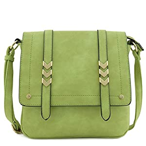 Alyssa Double Compartment Large Flapover Crossbody Bag
