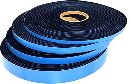 Bauhandel24 Moosgummi selbstklebend, Dichtband 12mm (B) x 6mm (D) x 10m (L), Schaumstoff Fugendichtband, Türdichtung, Fensterabdichtung