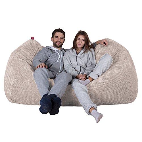 Lounge Pug®, Riesen Sitzsack Couch, Sitzsack Sofa, Pom-Pom Creme