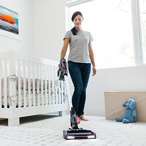 Shark Rocket Ion Ultra-Light Cordless Bagless Vacuum for Carpet and Hard Floor with Lift-Away Hand Vacuum and Rechargeable Ion Battery (IR101), Pink