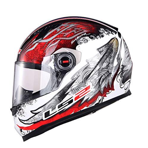 Casque casque moto hommes et femmes casque de locomotive de course (Couleur : A-XL(58-59CM))