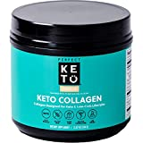 Perfect Keto Collagen Powder with MCT Oil - Grassfed, GF, Multi Supplement, Best for Ketogenic Diets, Use in Coffee, Shakes for Women & Men  Vanilla