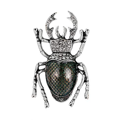 YAZILIND Vintage Escarabajo Broche Pins Mujeres Breastpin Ramillete de cumpleaños de Las niñas de Regalo de joyería (Color 1)