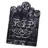 Hellery Espuma Cementerio Lápida Esqueleto Calavera Tumba Halloween Prop Decoraciones para El Patio - Segundo