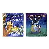 2 Pack Padded Board Books: Grandma Wishes and Grandpa's Wish List (Love You Always)