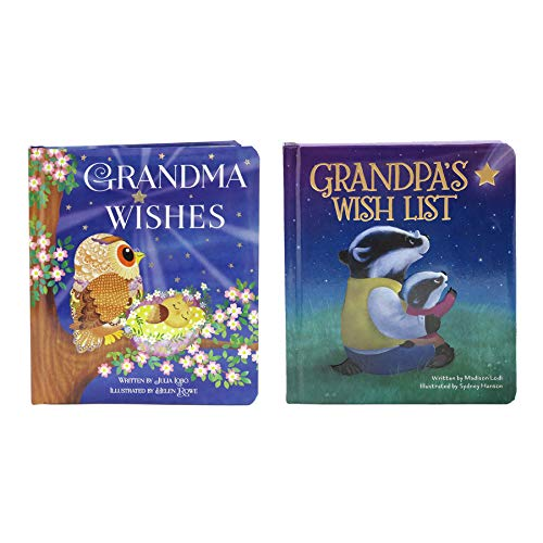 2 Pack Padded Board Books: Grandma Wishes and Grandpa's Wish List (Love You Always)