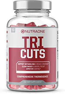 Tricuts Thermogenic Fat Burner Supplement by NutraOne - Aids Weight Loss, Boosts Energy and Focus (90 Capsules)