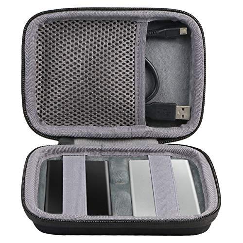 co2CREA Hard Custodia Borse Viaggio per Samsung T7 Touch SSD Esterno Portatile 1TB/2TB/500GB (per 2 SSD, Nero)