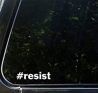 #resist - Hashtag Resist - Vinyl Car Decal Sticker - Window, Bumper, Truck, etc. - Copyright Yadda-Yadda Design Co. (SIZE & COLOR CHOICES) (SMALL, 4.5