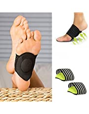 Bomcomi 1 Pair Arch Support Foot Cushion men Arch foot support Pads Compression Massager for Flat Feet Green 1