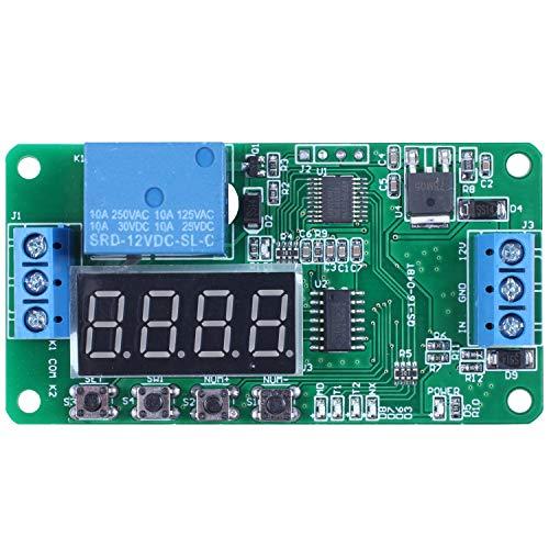 KU Syang Temporizador De Retardo Dpdt Multifuncional 12V Doble Canal Interruptor De Control De Tiempo De Rele Dr42A01