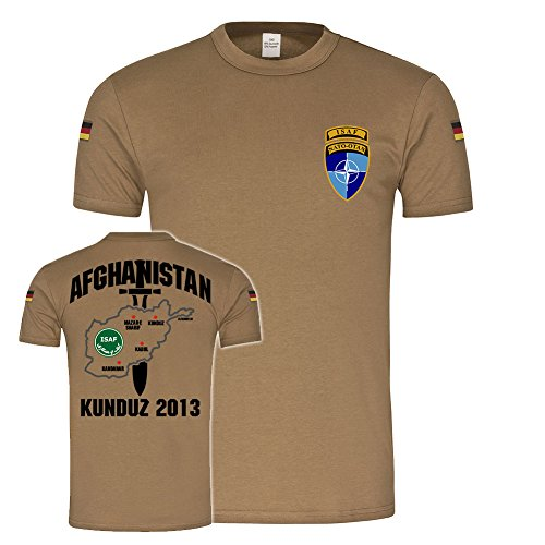 Copytec BW Tropen Afghanistan Einsatz Kunduz 2013 Bundeswehr ISAF Tropenshirt #25192, Größe:XL, Farbe:Khaki