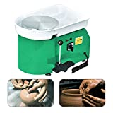SKYTOU Pottery Wheel Pottery Forming Machine 25CM 350W Electric Pottery Wheel with Foot Pedal DIY Clay Tool Ceramic Machine Work Clay Art Craft (Green)