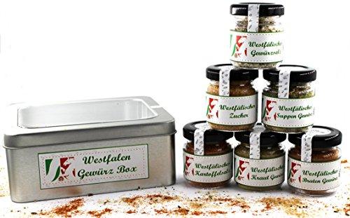 Westfalen Gewürzbox mit 6 delikaten Gewürzmischungen für die westfälische Küche