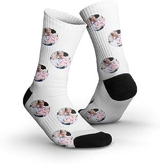 YourSurprise, Calcetines personalizados con foto - Personaliza estos calcetines con tu foto favorita o una cara divertida