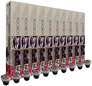 SanSiro Rooibos - 100 cápsulas de té compatibles con Nespresso® - Paquete de 10 (10 x 10 cápsulas de té)