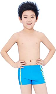 男の子の水着 大きな子供の水泳のトランク 男の子はトランクを泳ぐ 子供のボクサーショーツ 水着水着 (色 : 青, サイズ : 12)