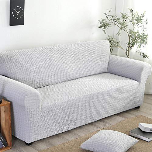 Universal Cubierta para Sofá,Funda de sofá elástica, funda de sofá antideslizante de jacquard de punto con todo incluido, funda a prueba de polvo para muebles de sofá para todas las estaciones, gris