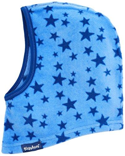 Playshoes Kinder Helmmütze aus Fleece Sterne softe und atmungsaktive Schlupfmütze, blau, one size