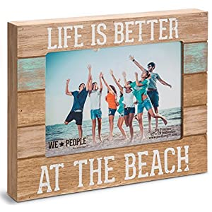 Pavilion Gift Company 67242 We People-Life is Better at The Beach Picture Frame, 5″x7″