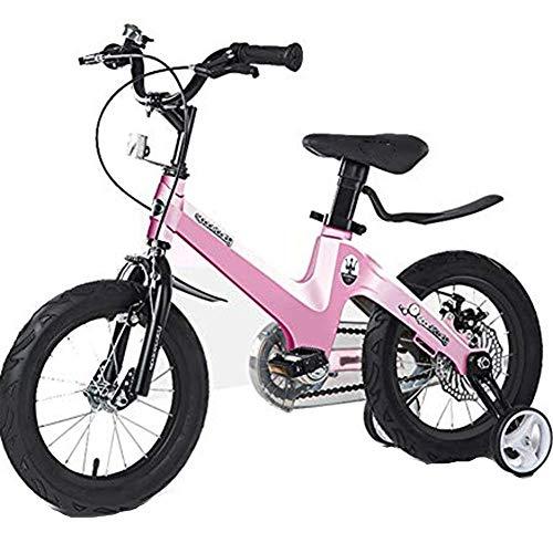 TOOSD Bicicleta para Niños, Bicicleta Deportiva para Niños De 12 A 18 Pulgadas con Estabilizadores De Seguridad, Sistema De Doble Freno Bicicleta para Niños,C,16