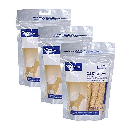 Virbac Dental Chews CET612-3 30 Count C.E.T. Hextra Chews (3 Pack), Petite