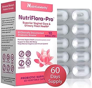 60-Count NutriCelebrity NutriFlora-Pro Probiotics Capsules for Women