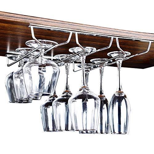 Xiao Huang li Bekerhouder, roestvrij staal, wijnglas, hangend frame, glazen kast, lower wandbehang, bekerhouder voor bar, keuken, bar, bar, keuken, bar, kan worden gebruikt