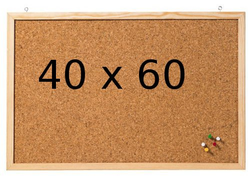 Prikbord van kurk 40 x 60 cm