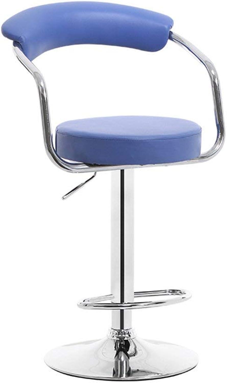 JZX Chair, Bar Stool, Metal redating Adjustable Comfort and Durable Cafe Practical Stool