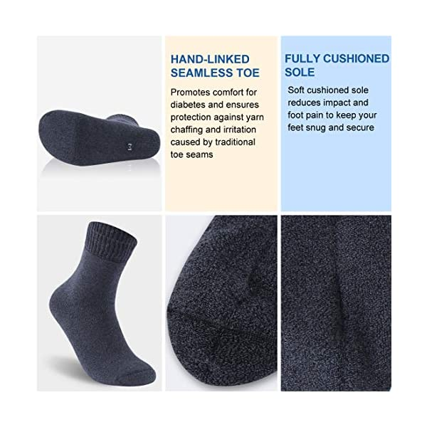 buy  Facool Diabetic Socks for Men Women, Thick Warm ... Diabetes Care