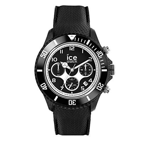 Ice-Watch - ICE dune Black - Schwarze Herrenuhr mit Silikonarmband - Chrono - 014216 (Large)