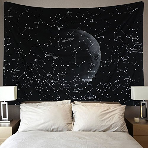 Martine Mall Moon Constellations Tapestry Wall Tapestry Bohemian Wall Hanging Tapestries Wall Blanket Wall Art Wall Decor Sunset Tapestry Indian Wall Decor (Moon Constellations, 59.1