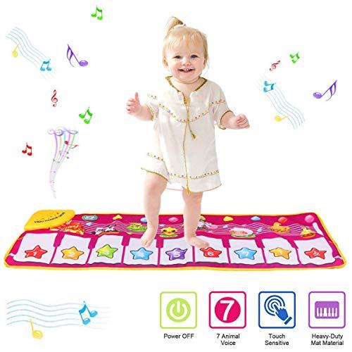 PROACC Tappetino per Pianoforte, Giocattolo per Tappetino per Pianoforte per Bambini, Grande Formato (39 * 14 Pollici) Tappetino per Ballo Divertente per Neonati Regalo per Bimbi e Ragazze