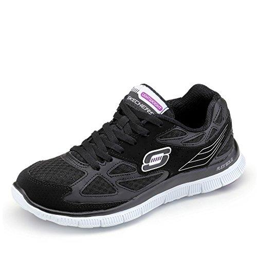 Skechers Flex AppealAlign, Damen Laufschuhe, Schwarz - Schwarz - schwarz - Größe: 37