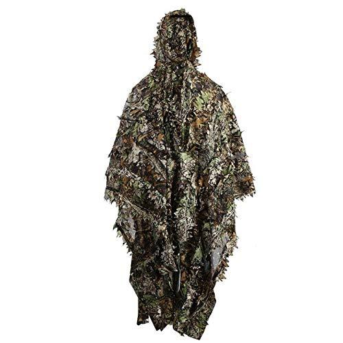 VIGAN 3D Camo Bionic Camuflaje de Caza en la Selva Juego de Ghillie Juego Woodland Sniper Birdwatching Poncho Ghillie Suit