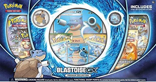 Pokemon Blastoise-Gx Premium Collection Box  3 Foil Cards