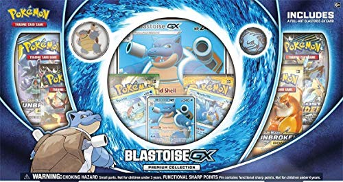 Pokemon Blastoise-Gx Premium Collection Box| 3 Foil Cards | 6 Booster Pack