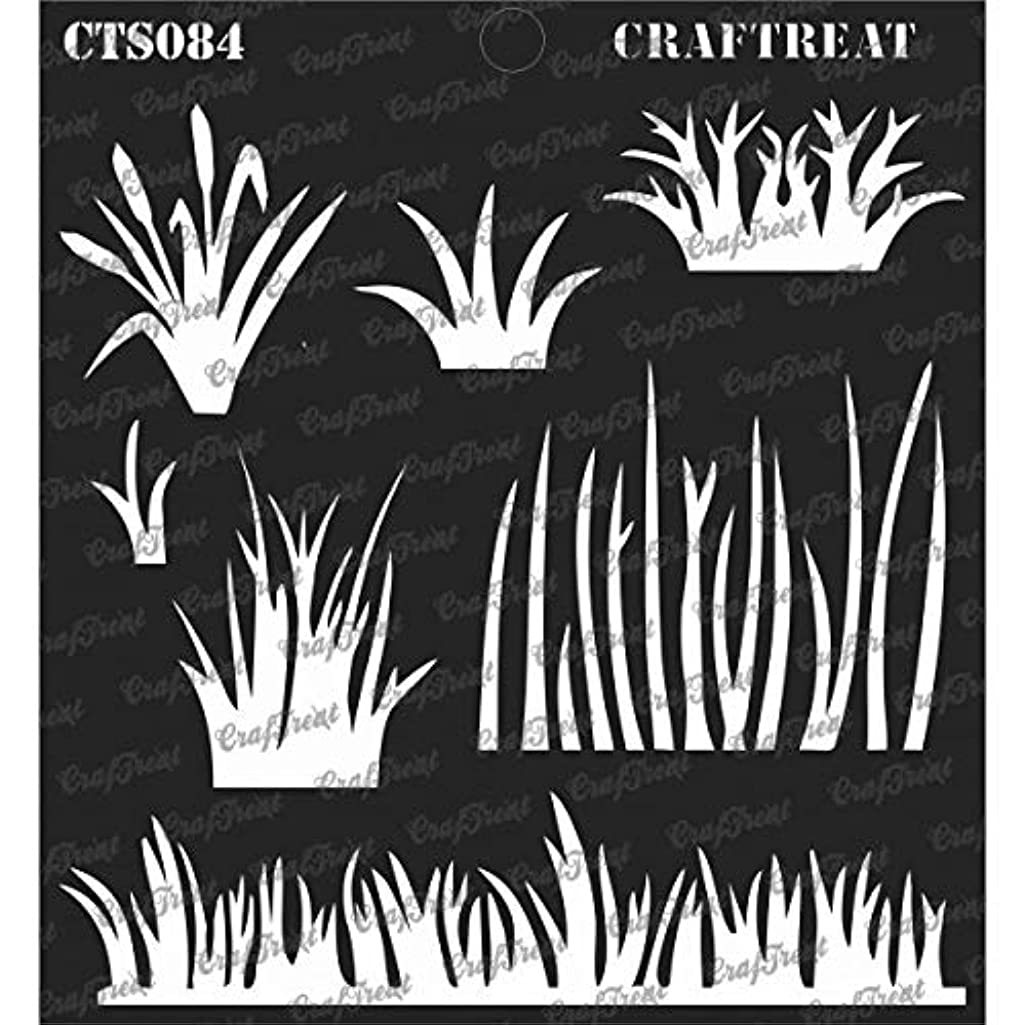 CrafTreat Stencil - Grass | Reusable Painting Template for Journal, Notebook, Home Decor, Crafting, DIY Albums, Scrapbook and Printing on Paper, Floor, Wall, Tile, Fabric, Wood 6