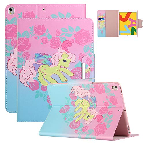 iPad Mini Case for iPad Mini 5 Cover for iPad Mini 2 3 4 Case, Coopts Slim PU Leather Protective Folding Stand Auto Sleep Wake Shell 7.9-inch Case for iPad Mini 5(2019)/iPad Mini 4 3 2 1, Green Horse